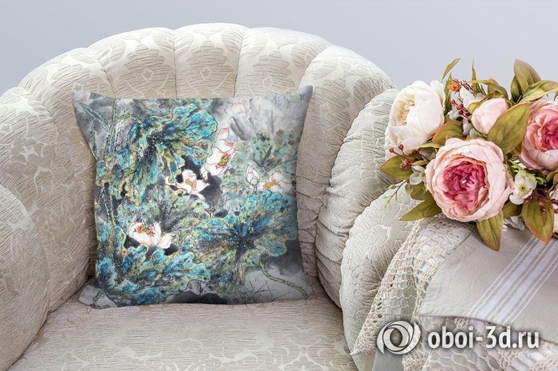3D Подушка «Японские мотивы: Цветы»  вид 3
