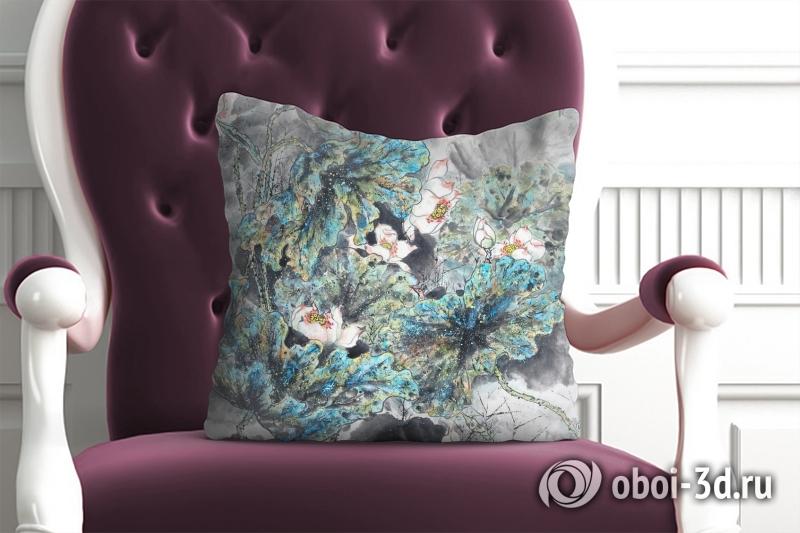 3D Подушка «Японские мотивы: Цветы»  вид 4