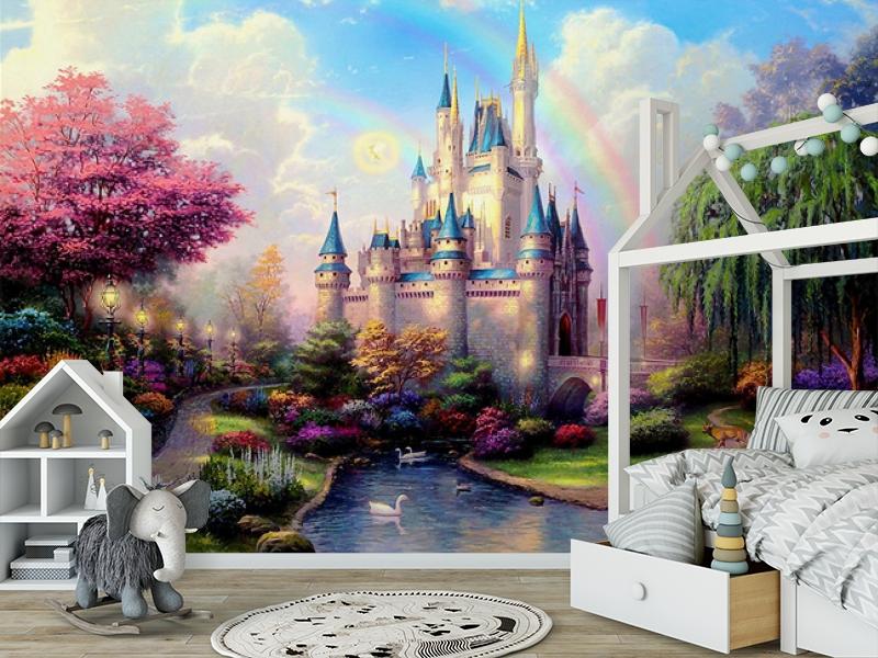 3D Фотообои «Замок для детской» вид 6