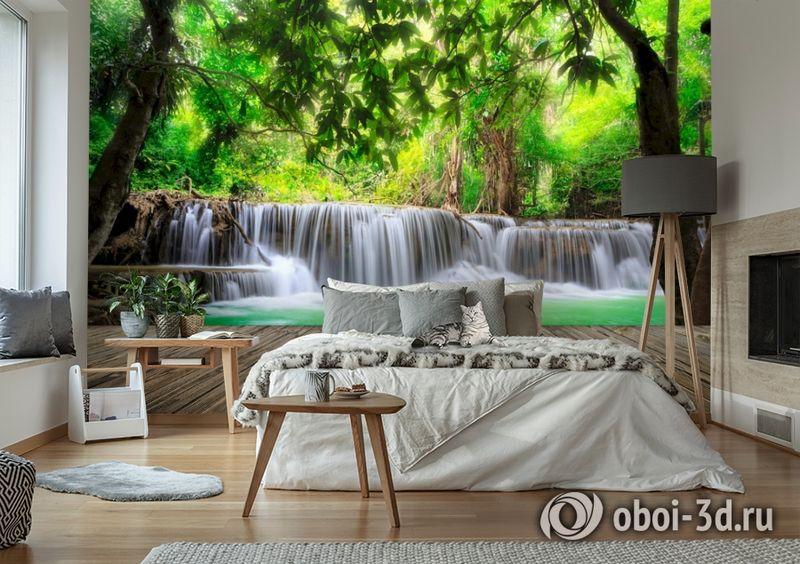 3D Фотообои  «Мостик у водопада»  вид 6