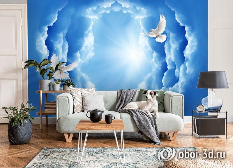 3D Фотообои «Птицы в небе» вид 6