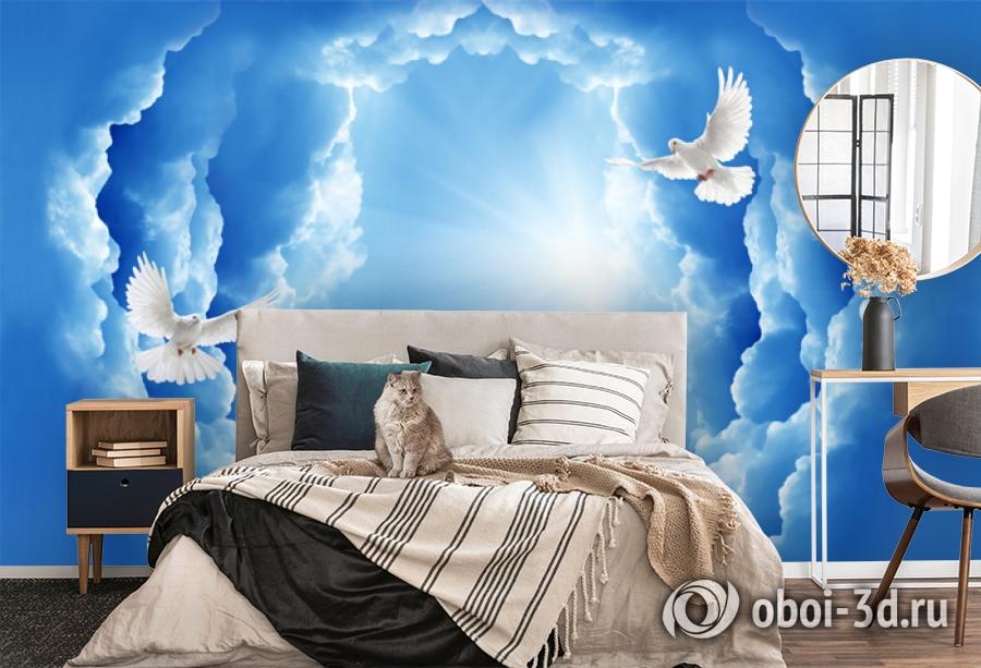 3D Фотообои «Птицы в небе» вид 5