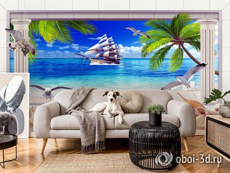 3D Фотообои  «Морская композиция»  вид 5