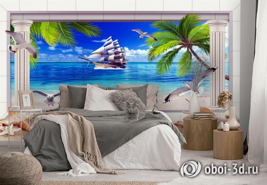 3D Фотообои  «Морская композиция»  вид 3