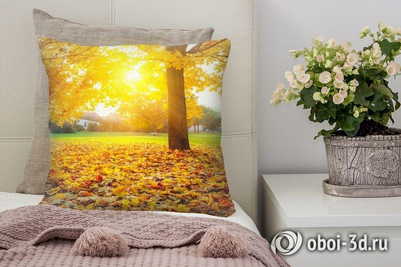 3D Подушка «Осенний парк»