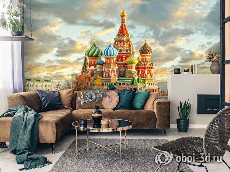 3D Фотообои  «Кремль Москва»  вид 7