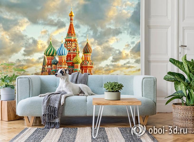 3D Фотообои  «Кремль Москва»  вид 2