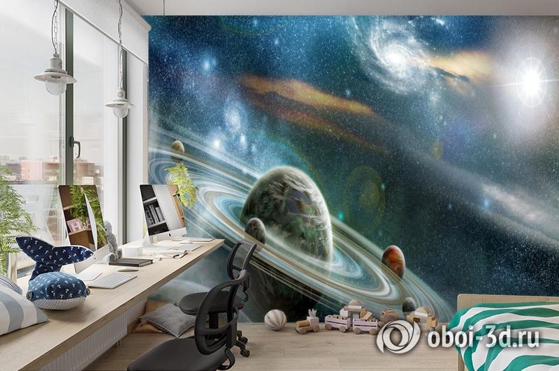 3D Фотообои  «Космический пейзаж»  вид 3