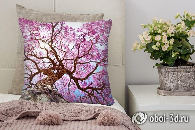 3D Подушка «Цветущее дерево»
