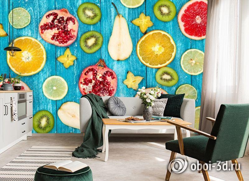 3D Фотообои  «Сочные фрукты»  вид 7