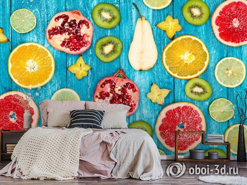 3D Фотообои  «Сочные фрукты»  вид 6