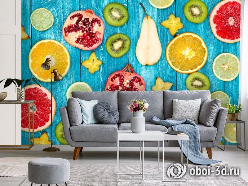 3D Фотообои  «Сочные фрукты»  вид 3