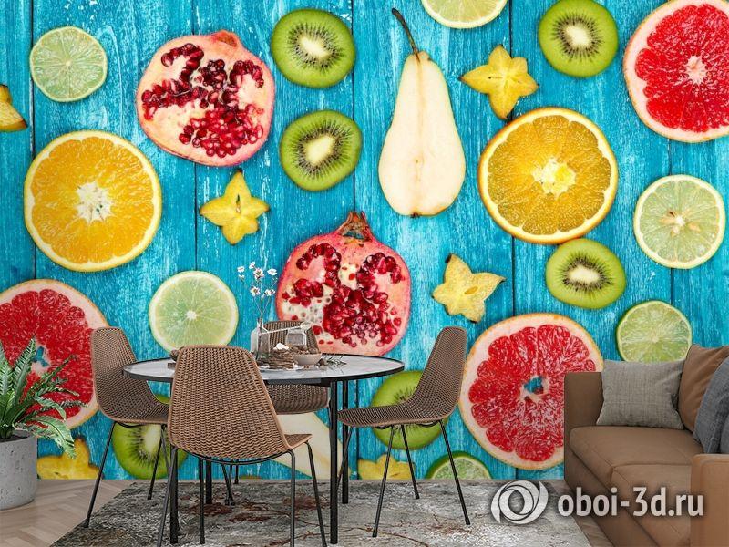 3D Фотообои  «Сочные фрукты»  вид 2