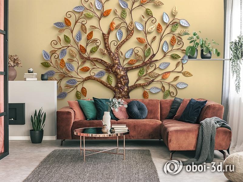 3D Фотообои  «Дерево счастья»  вид 4