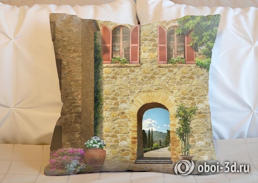 3D Подушка «Внутренний дворик»
