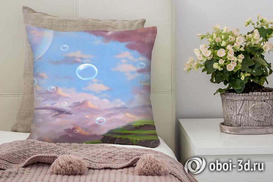 3D Подушка «Города в облаках»