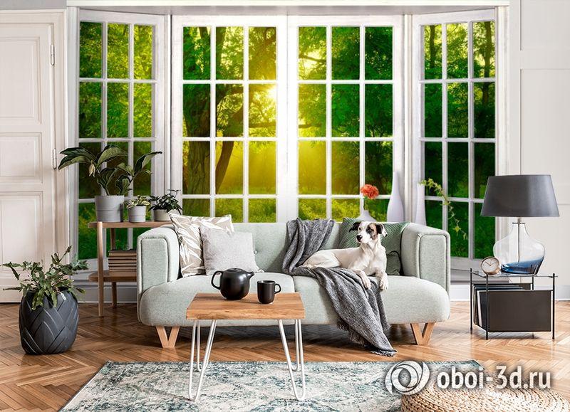 3D Фотообои  «Панорамное окно»  вид 6