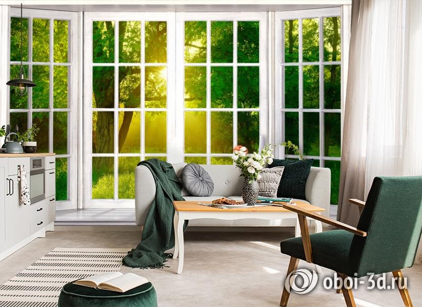 3D Фотообои  «Панорамное окно»  вид 5