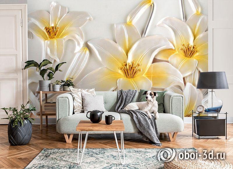 3D Фотообои  «Объемные лилии»  вид 8