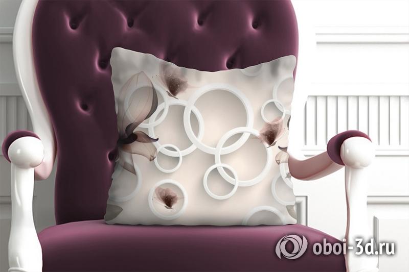 3D фотообои 3D Подушка «Абстрактные магнолии» вид 1