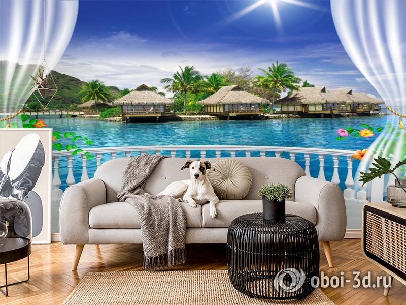 3D Фотообои  «Вид с террасы Таиланд»  вид 5