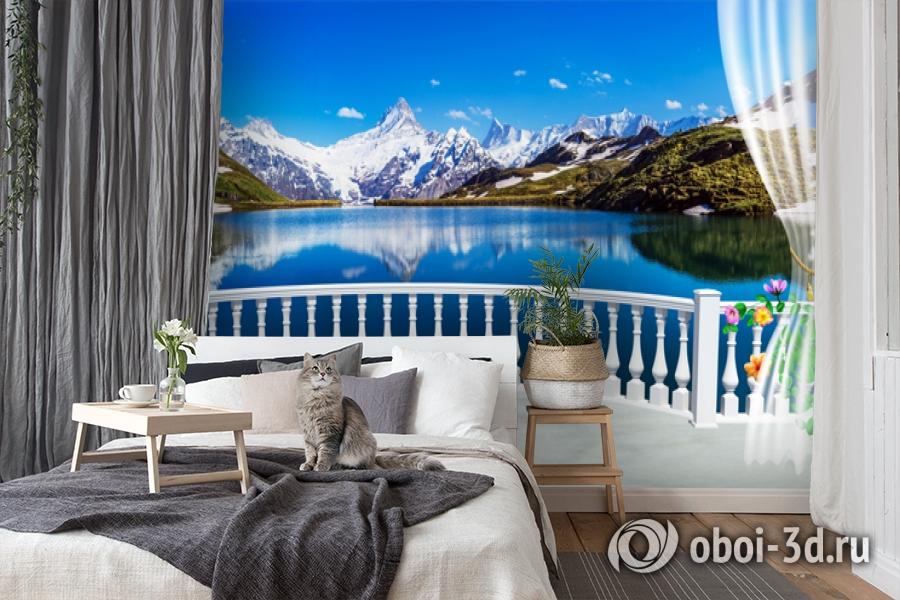 3D Фотообои  «Вид с балкона террасы на горы»  вид 7