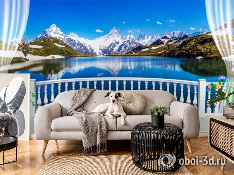 3D Фотообои  «Вид с балкона террасы на горы»  вид 5