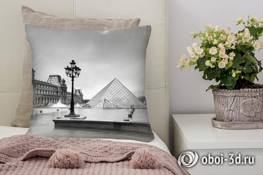 3D Подушка «Площадь у Лувра»