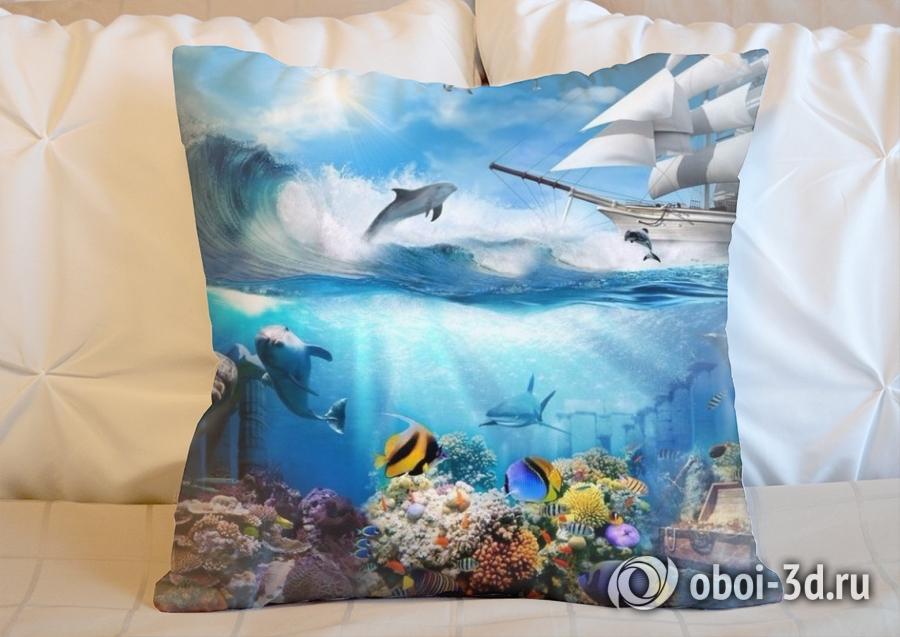 3D Подушка «Морские глубины»