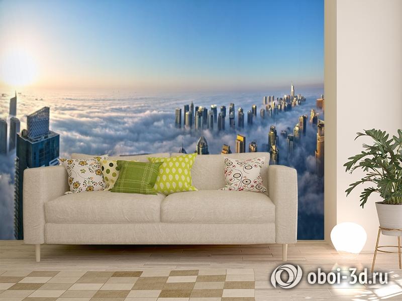 3D Фотообои  «Туман над Дубаем»  вид 11
