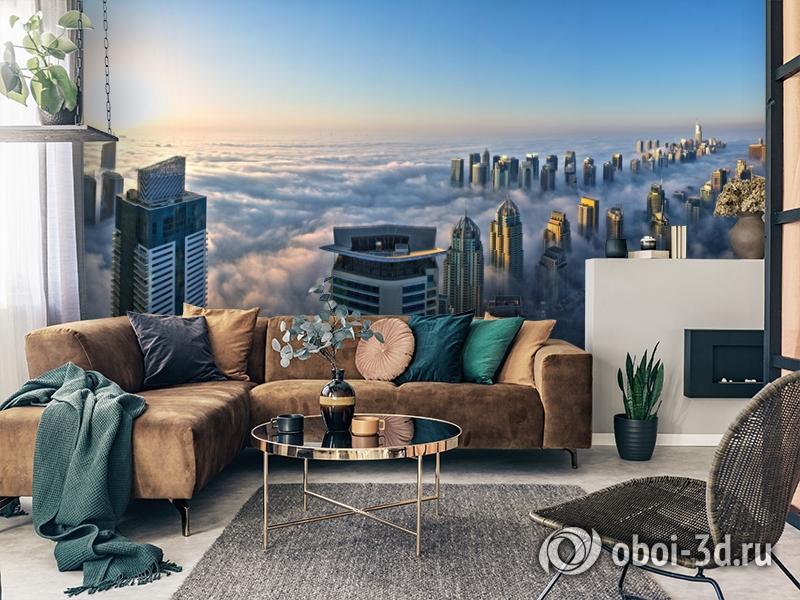 3D Фотообои  «Туман над Дубаем»  вид 7
