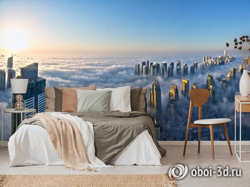 3D Фотообои  «Туман над Дубаем»  вид 6