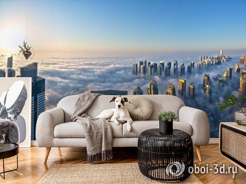 3D Фотообои  «Туман над Дубаем»  вид 4