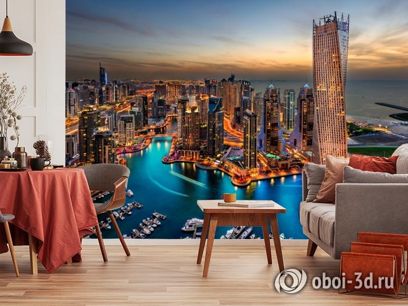 3D Фотообои  «Ночной Дубай»  вид 10