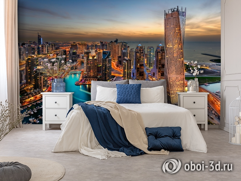 3D Фотообои  «Ночной Дубай»  вид 8
