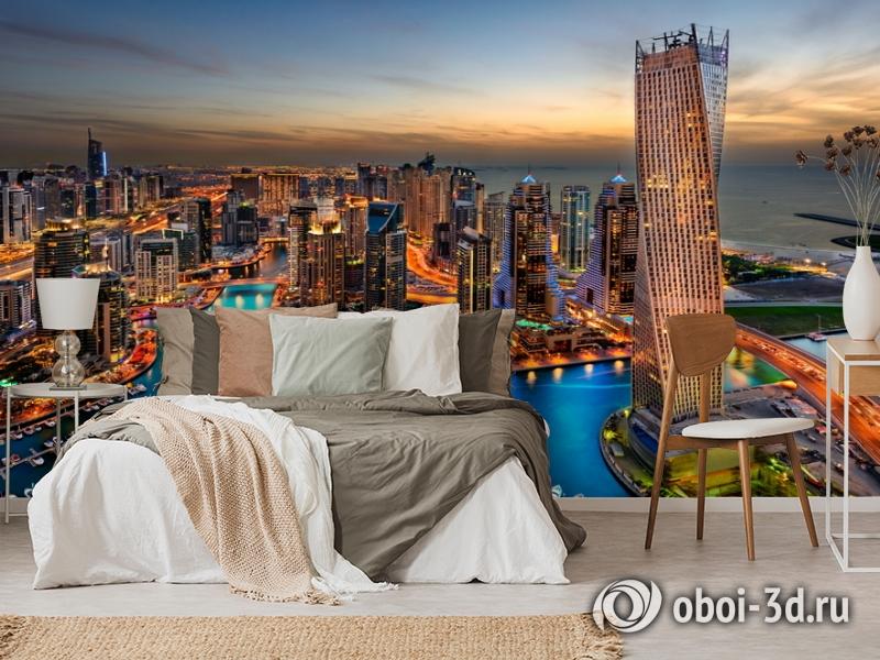 3D Фотообои  «Ночной Дубай»  вид 6