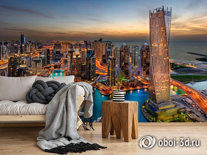 3D Фотообои  «Ночной Дубай»  вид 5