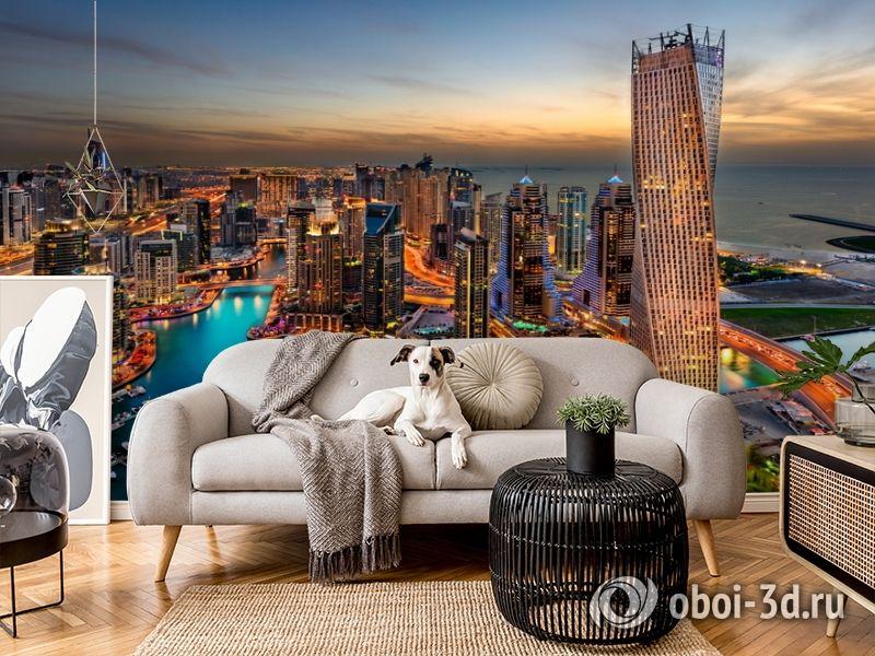 3D Фотообои  «Ночной Дубай»  вид 4