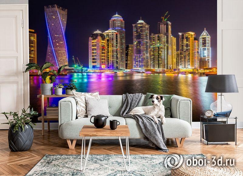 3D Фотообои  «Огни Дубая»  вид 3