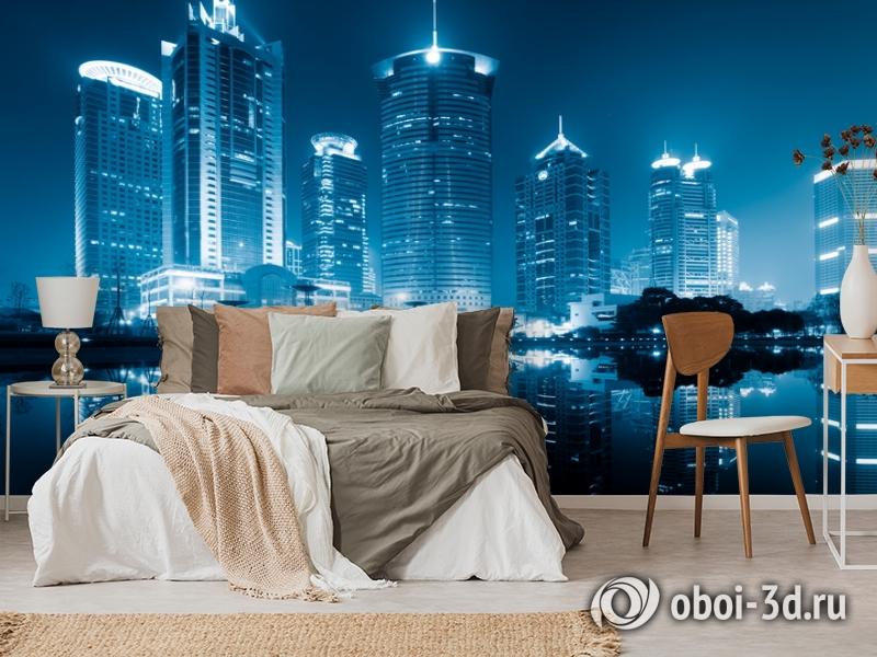 3D Фотообои  «Неоновые огни ночного города»  вид 6