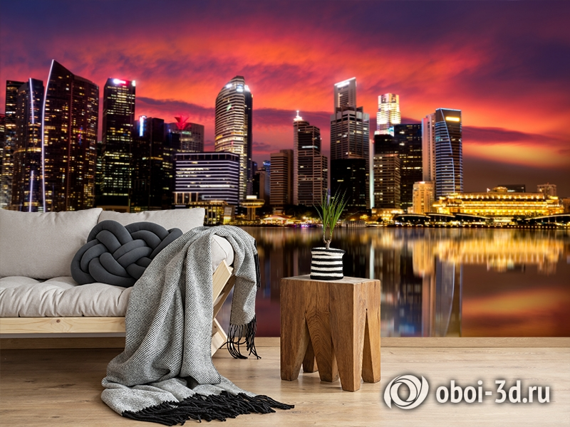 3D Фотообои  «Мегаполис.Город»  вид 5
