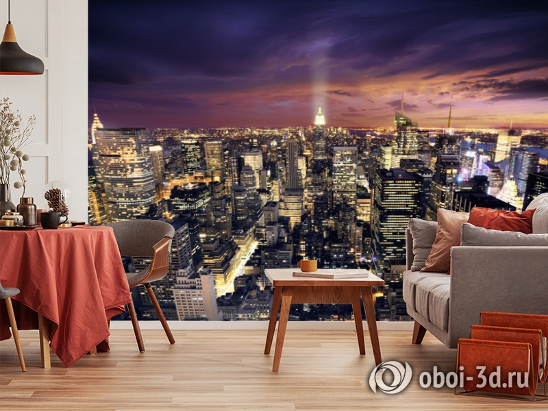 3D Фотообои  «Ночной Манхэттен»  вид 10