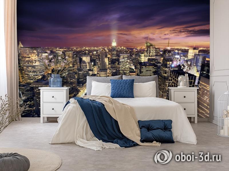 3D Фотообои  «Ночной Манхэттен»  вид 8