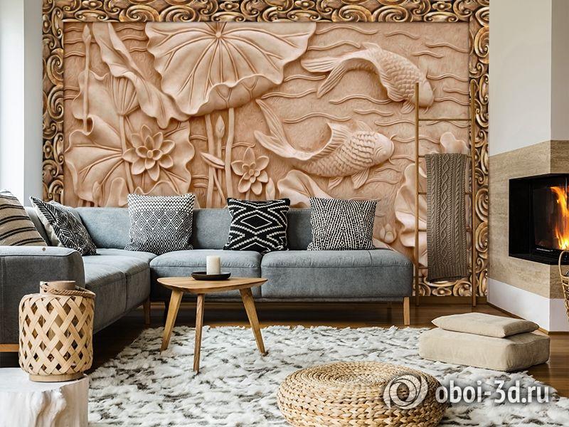 3D Фотообои  «Резьба по дереву в китайском стиле»  вид 7