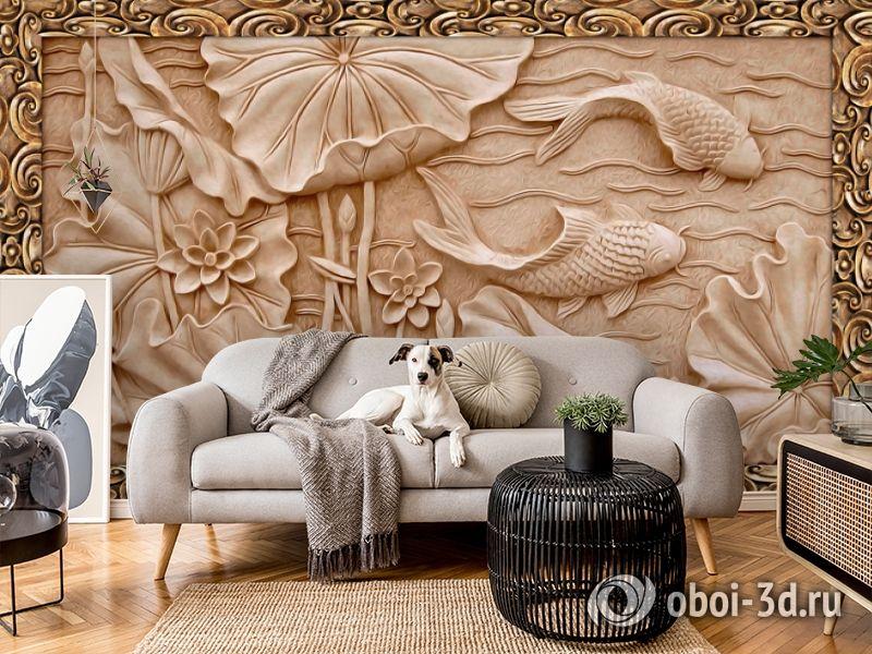 3D Фотообои  «Резьба по дереву в китайском стиле»  вид 5