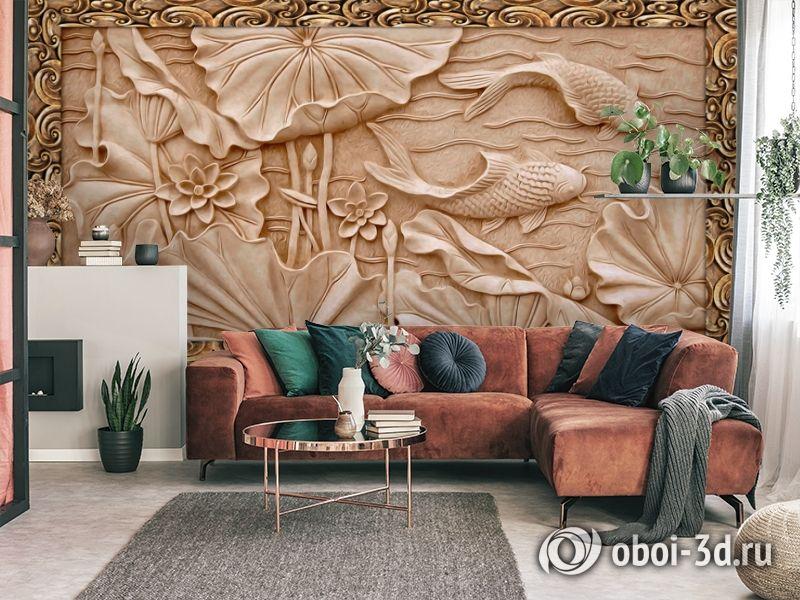3D Фотообои  «Резьба по дереву в китайском стиле»  вид 4