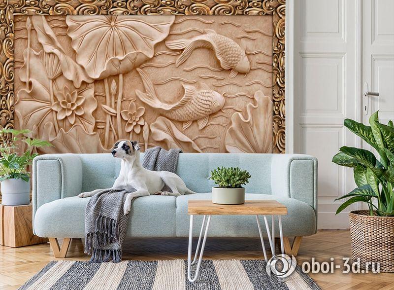 3D Фотообои  «Резьба по дереву в китайском стиле»  вид 2