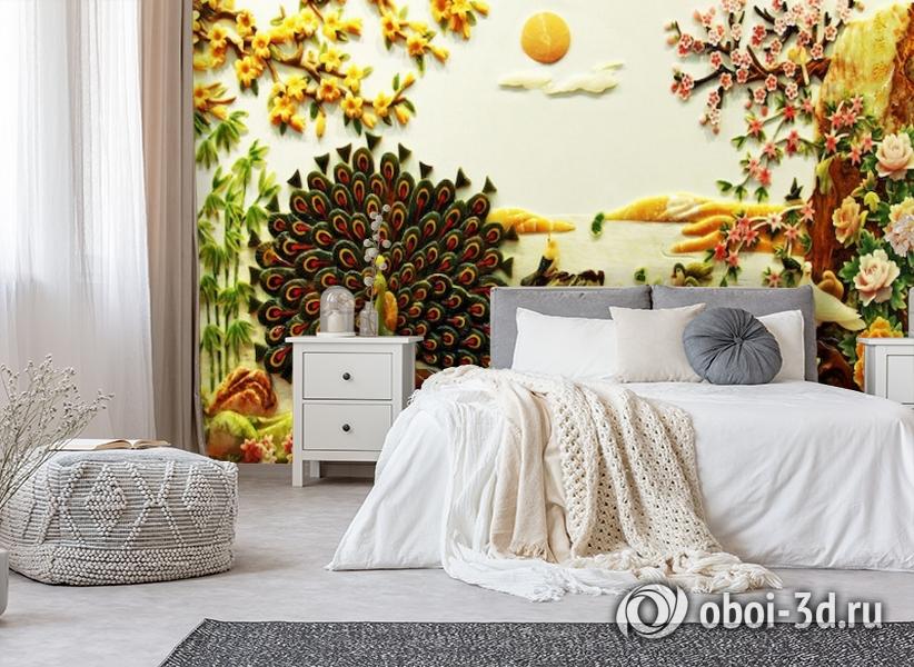 3D Фотообои  «Декорация в японском стиле из нефрита»  вид 6