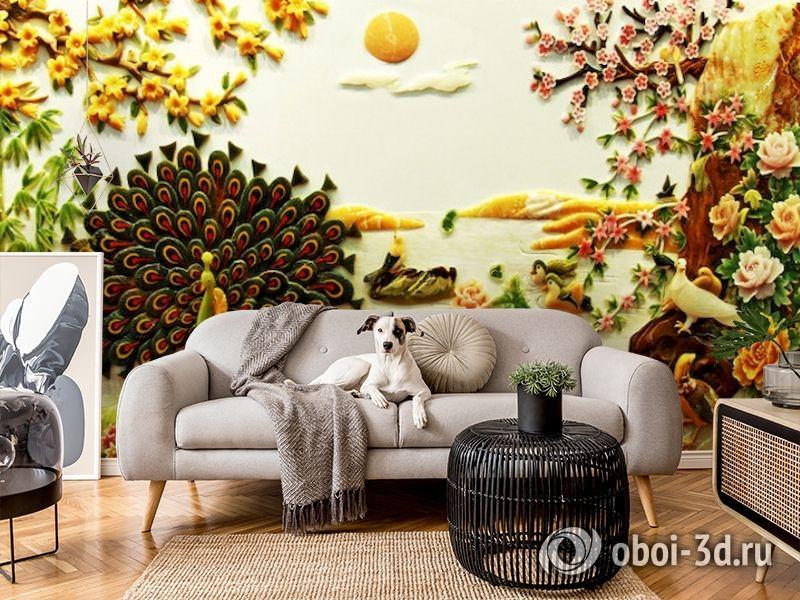 3D Фотообои  «Декорация в японском стиле из нефрита»  вид 5