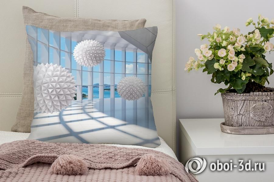 3D фотообои 3D Подушка «Фантастическая терраса» вид 1